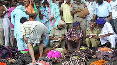 Indian shrine stampede kills scores