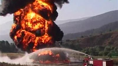 PKK claims oil pipeline fire