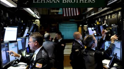 Lehman losses hit world stocks