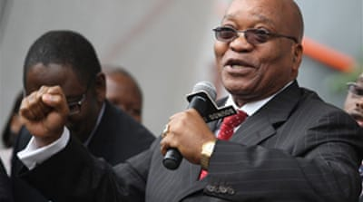 S Africa court throws out Zuma case