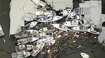 US counts the cost of Hurricane Ike