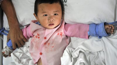 China milk scare hits 1,200 babies
