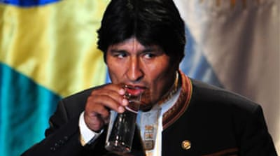 South American leaders back Morales