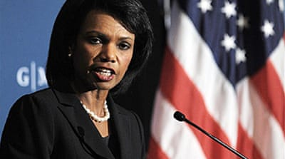 Rice warns of Russian 'bullying'