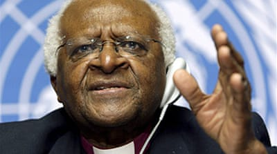 Tutu urges Israel 'war crime' probe