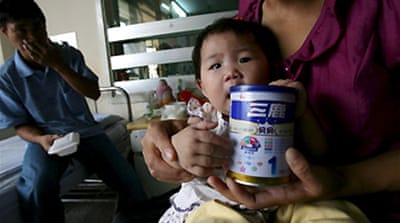 china milk scandal Could a new zealand dairy trader have done more to prevent china's milk scandal at press time, sanlu group milk products contaminated with the toxic chemical melamine had killed four babies, sickened 53,000 and triggered import bans and recalls worldwide.