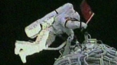 China stages first spacewalk