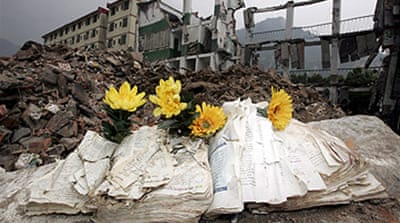 China admits quake schools flawed