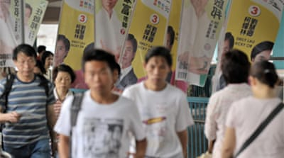 Hong Kong voters go to polls