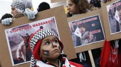 Mass protests held against Gaza war