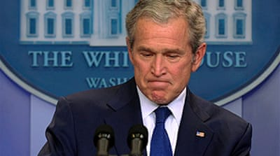 Bush admits 'mistakes' in office