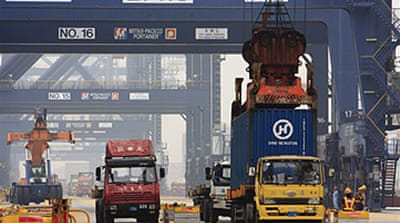 China export slowdown eases