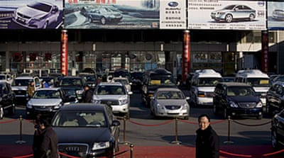 China gives car makers a boost