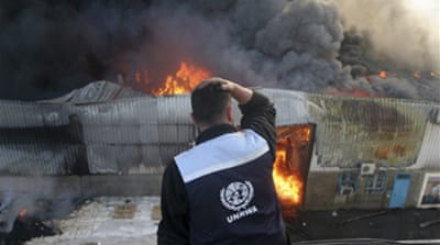 Gaza hospitals and UN warehouse hit