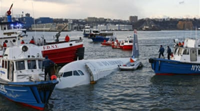 Passengers saved in US jet crash