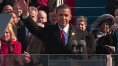 Video: Obama sworn in as president