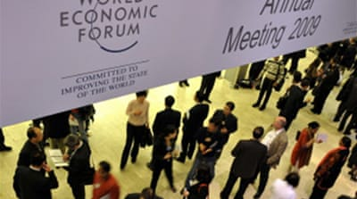Financial crisis hangs over Davos