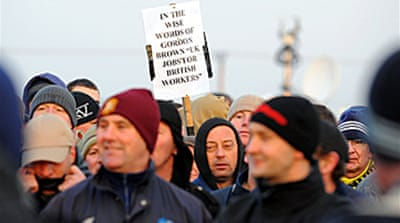 Oil workers strike across Britain