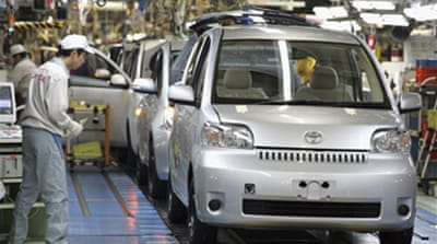 Toyota announces production freeze
