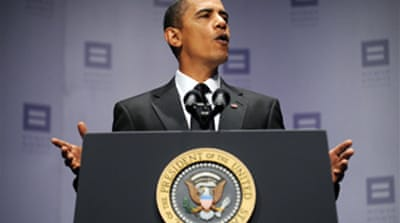 Obama vows support to gays in army