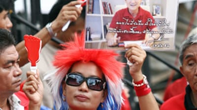 Thaksin supporters rally in Bangkok