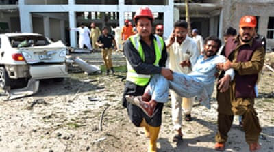 Blasts strike across Pakistan