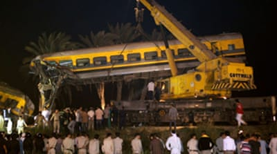 Charges over Egypt train crash