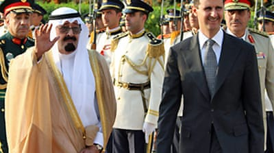 Saudi king in Syria to boost ties