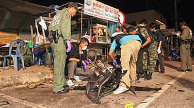 Blasts rock restive Thai south