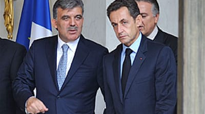 Sarkozy firm against Turkey EU bid