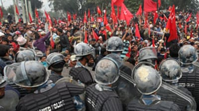 Clashes as Nepal's Maoists protest