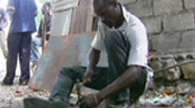 Haitians fight poverty with art