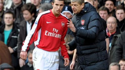 Van Persie blow for Arsenal