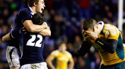 Scotland finally beat Australia