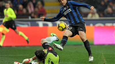 Late penalty gives Inter win