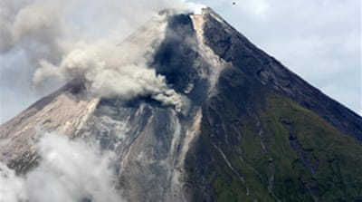 Lava build-up on Philippine volcano