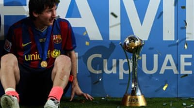 Messi puts Barca on top of world