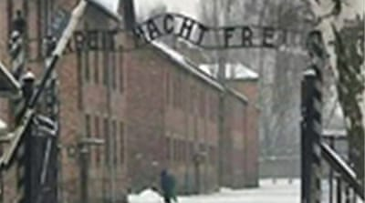 Nazi death camp sign stolen