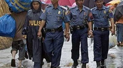Philippine police officers removed