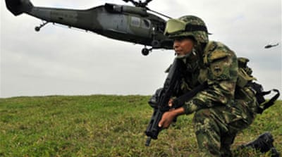 Colombia 'facing foreign threat'