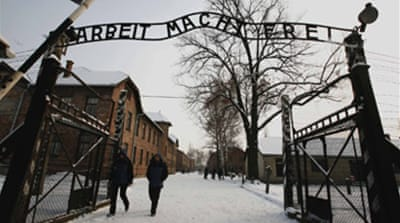Auschwitz death camp sign returned