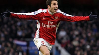 Fabregas shines for Arsenal