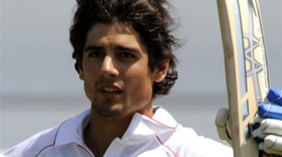 Cook hits form with vital ton