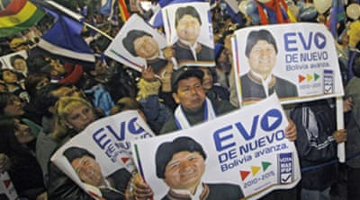 Morales claims Bolivia election win