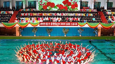 N Korea marks Kim's birthday
