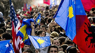 Kosovo marks year of 'independence'