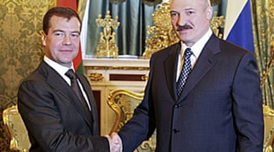 Russia and Belarus in defence pact
