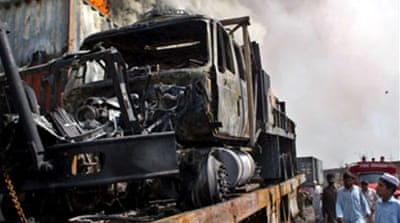 Taliban targets Nato lorries