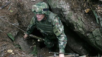 Colombia 'uncovers rebel hideout'