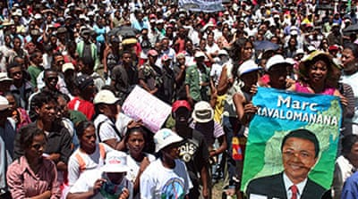 Madagascans protest against leader